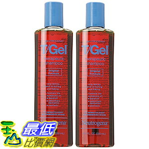 [美國直購] Neutrogena 070501092200 T/Gel 8.5 Oz (2入) 頭皮屑煤焦油洗髮精 Therapeutic Shampoo, Original Formula_TB4