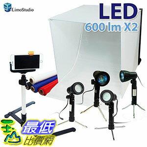 [106美國直購] LimoStudio AGG1071 攝影棚工具組 24吋 Folding Photo Box Tent LED Light Table Top Photography Studio Kit