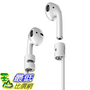 [106美國直購] elago ESTR-AP-WH AirPods Strap [White] - [Compact][Lightweight][Ideal Length] – for Apple AirPods d001