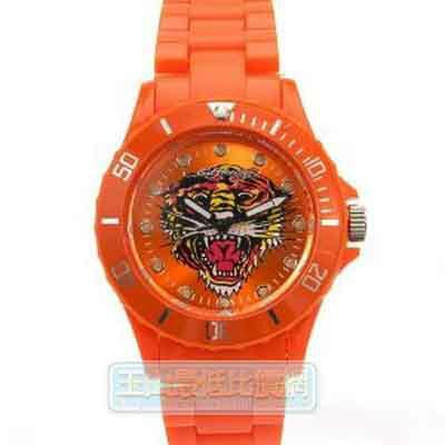 [美國直購 ShopUSA] Ed Hardy 手錶 Striker VIP II Orange Watch, Tiger on Face $2699