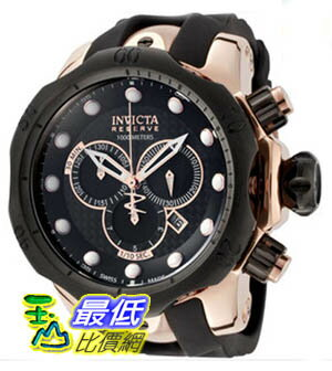 [美國直購 ShopUSA] Invicta 0361 Rose Gold Tone Reserve Vemon Swiss Quartz Black Dial 1000M Diver 手錶