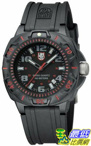 [美國直購 ShopUSA] Luminox 0215  Series Black Silicone Rubber 男士手錶 Watch 0215  $7380