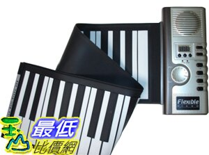 _B@[玉山最低比價網]  新款 49鍵 多功能 100音色 可捲 和絃 觸控式 薄型軟鍵盤 可攜式折疊 鋼琴(28008_H16)