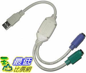_B@[玉山最低比價網]     USB 轉 PS2 PS/2 雙埠 轉接線 鍵盤 / 滑鼠 / 條碼機 (12012_k224) $33