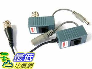 _A@[[玉山最低比價網] BNC視頻訊號 轉 網路線 RJ45 轉換器組/轉接器組 附電源接頭(18086_R003) $246