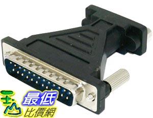 _B@[玉山最低比價網 有現貨] 電腦線材 週邊專用 25pin(公頭)轉 RS232(母頭)轉接頭(12158_e1c)