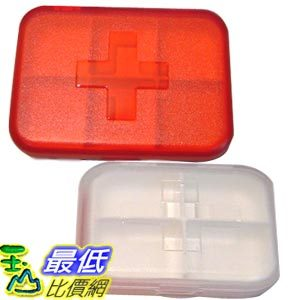 _a@[玉山最低比價網] PINKO PILL BOX 六格紅十字藥盒/維他命盒/飾品盒/錠片盒/收納盒 (22234_R111) dd