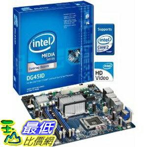 [美國直購 ShopUSA] Intel 原廠主機板 DG45ID Media Series G45 uATX DDR2 800 Intel Graphics HDMI+DVI 1333MHz FSB..