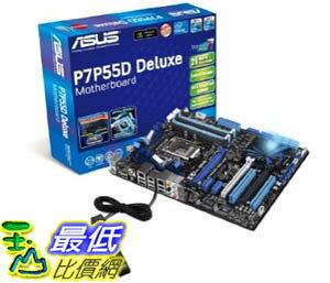 [美國直購] ASUS 主機板 LGA1156 Intel P55 DDR3 - 2133 ATX Motherboard P7P55D Deluxe $7220