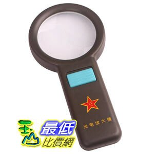 [玉山最低比價網]高檔軍用光電放大鏡88MM超大型帶10個LED燈閱讀鏡(16235_g202)