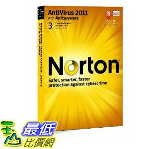 [美國直購 ShopUSA] 諾頓殺毒軟體 Norton Antivirus 2011 - 1 User/3 Pc  $1487