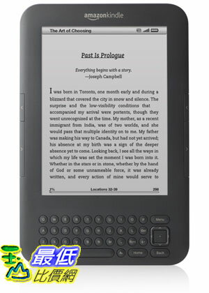"[美國代購] Kindle 3G, Free 3G , 3G Works Globally, Graphite, 6"" Display $6859 服務費100元"