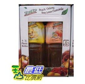 [COSCO代購] COST TREE TOP 樹頂果茶組合【蜂蜜檸檬甘菊茶 + 蜜桃烏龍茶】兩種口味各兩大瓶 (2 公升 x 4) C62655 $320