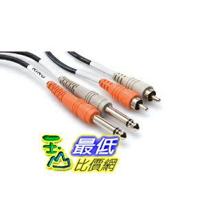 [美國直購 ShopUSA] 電纜 Hosa CPR201 Dual 1/4 Inch To RCA Cable - 3.25 Foot $288