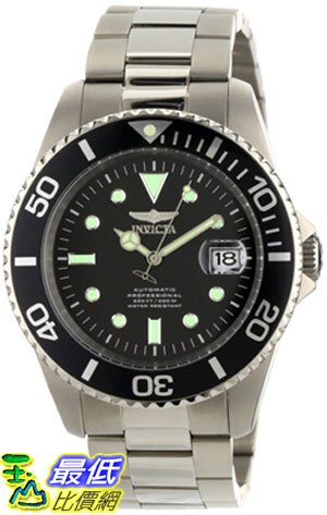 [美國直購 ShopUSA] Invicta 手錶 Men's 0420 Pro Diver Automatic Black Dial Titanium Watch