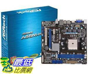 [美國直購 ShopUSA] ASRock 主機板 A55M-HVS FM1 AMD A55 FCH Micro ATX AMD Motherboard by ASRock $2460