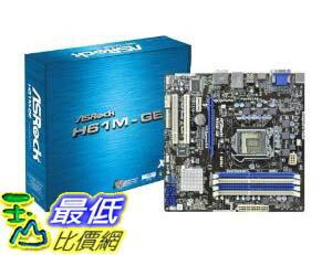 [美國直購 ShopUSA] ASRock 主機板 H61M-GE LGA1155/ Intel H61/ DDR3/ A&V&GbE/ MATX Motherboard by ASRock $282..
