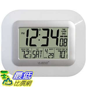 [美國代購 USAShop] La Crosse 供電傳感器 Technology WS-811561-W atomic digital wall clock with solar-powered sensor $1459