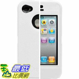 [美國直購 USAshop] OtterBox 保護套 APL2-I4UNI-B5-E4OTR Universal Defender Case for iPhone 4 (White Silicone..