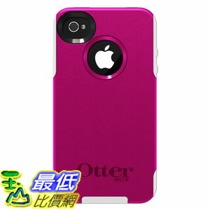 [美國直購 USAshop] OtterBox 手機皮套 77-23129 Commuter Series for iPhone 4/4S - 1 Pack - Carrying Case - Hot Pink/White