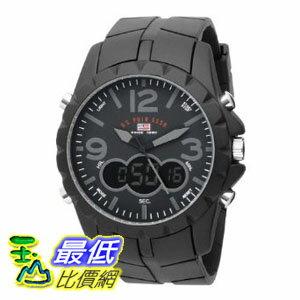 [美國直購 ShopUSA] U.S. Polo Assn. 手錶 Men's US9058 Analog-Digital Black Dial Black Rubber Strap Watch $1180