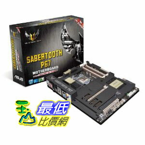 [美國直購 ShopUSA] ASUS 主機板 SABERTOOTH P67 LGA 1155 SATA Supported Intel P67 DDR3 1800 ATX Motherboard $..