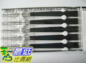%[臺灣製] 黑色 Buffalo 牛頭牌『彩晶鋼筷子』,5雙入/組,不銹鋼 TA39