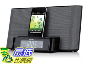 [美國直購] (整新機 屬於二手良品 保固三個月) Sony ICFCS10iP Speaker Dock with Alarm Clock and Radio for iPod/iPhone (Bl..