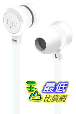 [美國直購 ShopUSA] iLuv 白色耳機 IEP336WHT Neon Sound High-Performance Earphone with SpeakEZ Remote for Smar..