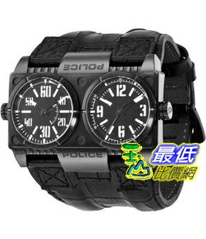 [103 美國直購] Police 手錶 Men's Dominator PL.12899XSB/02 Black Calf Skin Quartz Watch with Black Dial $4883