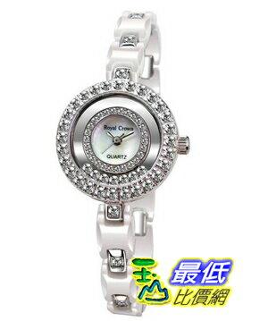 103 美國直購  White 手錶 Ceramic Round Watch with