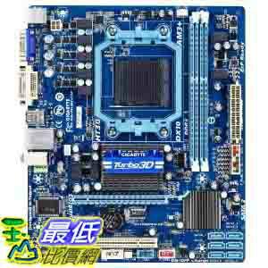 [美國直購 ShopUSA] Gigabyte 主機板 AMD 760G + SB710 Chipset DDR3 1333 AM3+ Micro ATX Motherboard (GA-78LMT-..