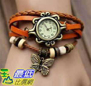[美國直購 USAShop] Fashion Accessories Trial Order New Quartz Fashion Weave Wrap Around Leather Bracelet Lady Woman Wrist 手錶 Yellow $498