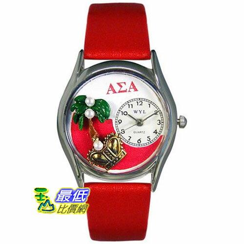 [美國直購 USAShop] Whimsical 手錶 Unisex Alpha Sigma Alpha Silver Watch S1710008 _mr $2087