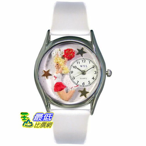 [美國直購 USAShop] Whimsical 手錶 Unisex Cheerleader Silver Watch S0820013 mr $2087