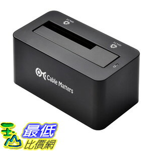"[美國直購 ShopUSA] 電纜 Cable Matters SuperSpeed USB 3.0/2.0 to 2.5""/3.5"" SATA Hard Drive Docking Station .."