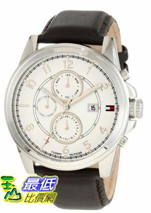 [美國直購 USAShop] Tommy Hilfiger Men's 1710294 Stainless Steel and Leather Strap White Dial 手錶 $2927