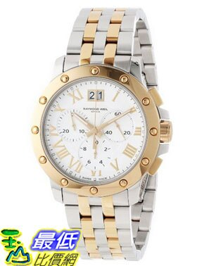 [美國直購 USAShop] Raymond Weil 手錶 Men's 4899-STP-00308 Tango Gold and Steel White Chronograph Watch $34995