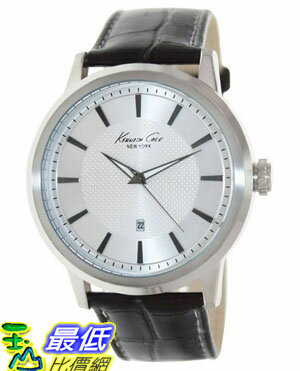 [美國直購 USAShop] Kenneth Cole 手錶 New York Men's KC1952 Modern Core Silver Dial Silver Case Brown Strap Watch $2804
