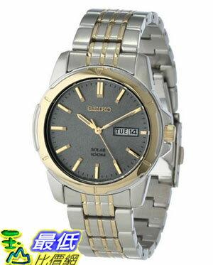 [美國直購 USAShop] Seiko 手錶 Men's SNE098 Two Tone Stainless Steel Analog with Charcoal Dial Watch $5617