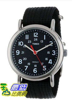 [美國直購 ShopUSA] Timex 中性男女通用錶  T2N647 Weekender Watch with Black Nylon Strap