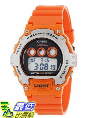 [美國直購 USAShop] Casio 手錶 Men's W-214H-4AVCF Chronograph Orange Watch