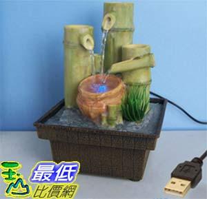 [玉山最低比價網] 竹子陶罐變色燈USB供電迷你小噴泉流水擺飾 dm02 $607