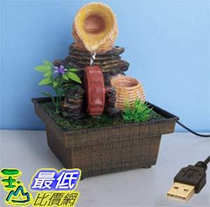 [玉山最低比價網] 竹蔞水車輪USB供電迷你小噴泉流水擺飾 dm06 $607