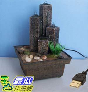 [玉山最低比價網] 三石柱噴水USB迷你小噴泉流水擺飾  dm07 $536