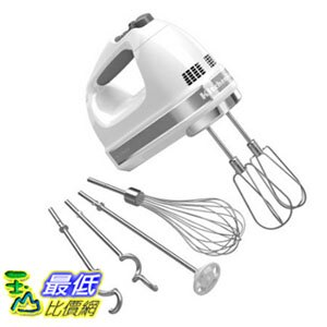 [104 美國直購] KitchenAid 攪拌機 白色款 KHM926WH 9-Speed Digital Hand Mixer Whisk - White