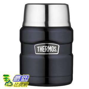[美國直購] 膳魔師帝王 Thermos Stainless King 16-Ounce Food Jar, Midnight Blue 不鏽鋼真空食物悶燒保溫罐 SK3000MBTRI4