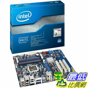 [美國直購 Shop USA] Boxed Intel 台式機主板 Desktop Board Media Seriesfor Second Generation Intel Core Family Processors BOXDH67CLB3 $4450