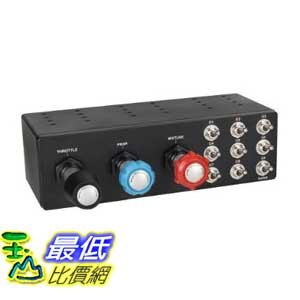 [美國直購 ShopUSA] Logitech Saitek 面板 PRO Flight TPM System - Throttle/Prop/Mixture Axis SCB432060002/04..