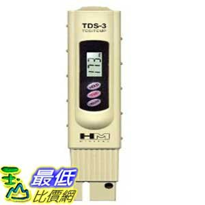 [美國直購 ShopUSA]  HM Digital 儀具 TDS-3 Handheld TDS Meter With Carrying Case, 0 - 9990 ppm TDS Measurement Range, 1 ppm Resolution, +/- 2% Readout Accuracy   $1140